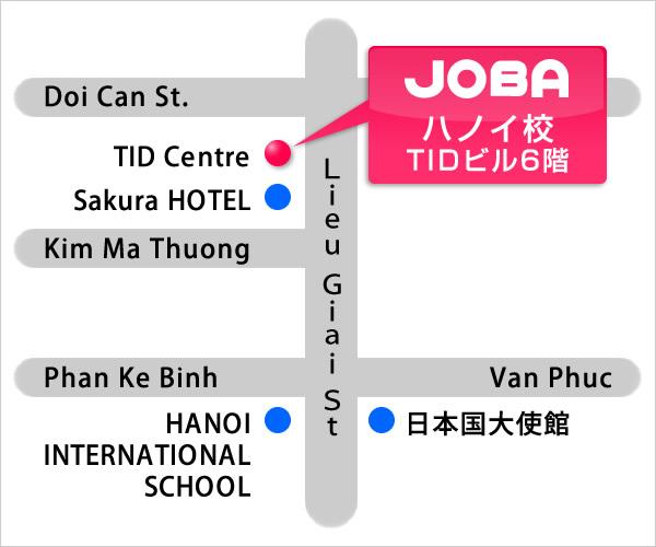 JOBAハノイ校 地図